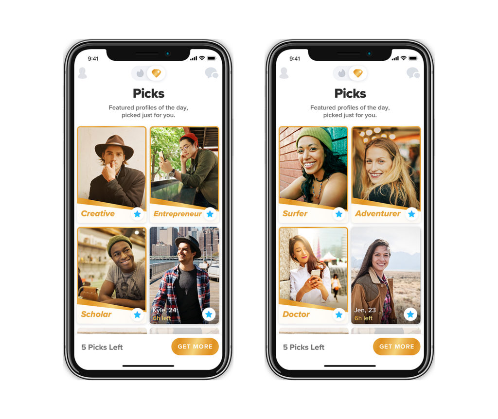 Tinder Top Pick Gold Feature