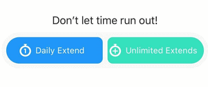 Bumble Daily Extend vs Unlimited Extend