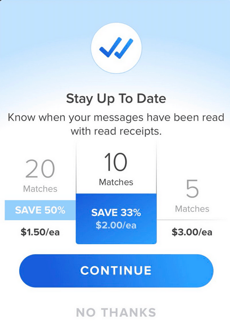 What is Tinder Read Receipts - Price