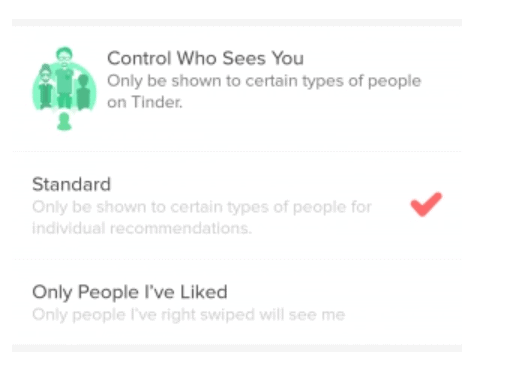 Tinder Control Who Sees You