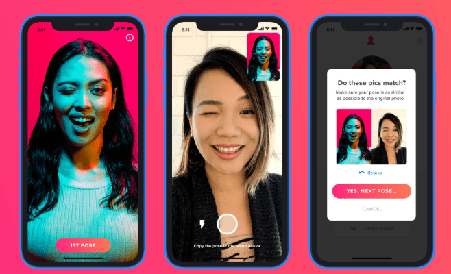 Tinder photo verification steps