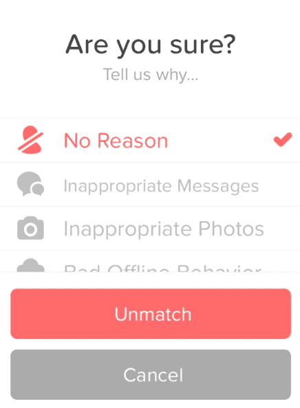 my tinder profile disappeared
