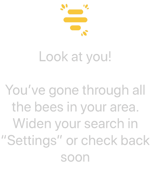 Bumble Out of New profiles