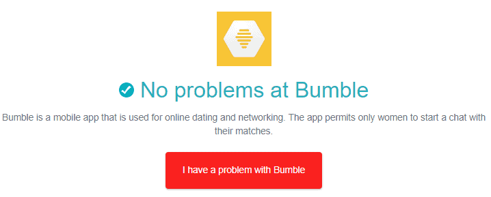 Is Bumble Down - down detector