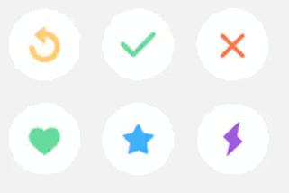 Tinder Icons and Tinder Symbols
