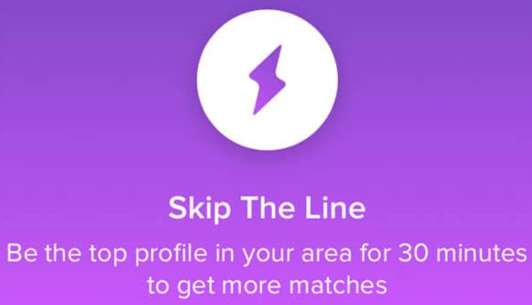 What does the Purple Lightning Bolt mean on Tinder?
