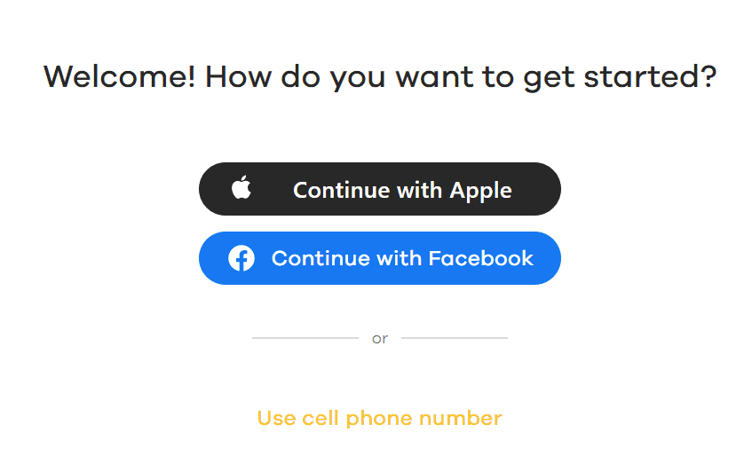 Bumble Web App Sign In