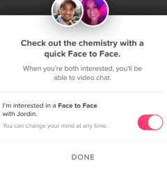 Enable Tinder Face to Face Video Chat