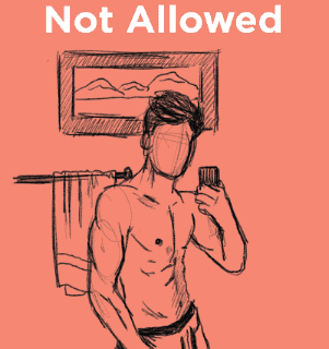 Shirtless Selfie on Bumble not allowed
